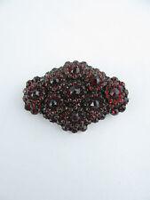 Large 19th C Tiered Bohemian Garnet Diamond Shape Brooch