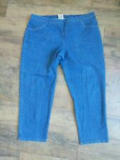 JMS Just My Size by Hanes Women's Plus Size 2X Blue Denim Jeans Elastic Waist