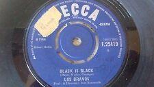 LOS BRAVOS BLACK IS BLACK OG UK 1966 UNBOXED DECCA 45 F.22419