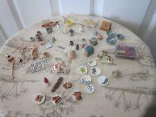 Vintage Dollhouse Miniatures Kitchen Items Lot