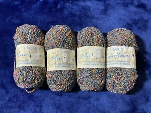 Discontinued Unger Rainflowers Yarn!  LOT of 4! Beautiful! Mix of colors!