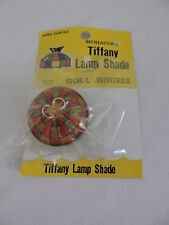 Miniature Vintage Tiffany Style Lamp Shade Gold Chain Dollhouse Hand Painted New