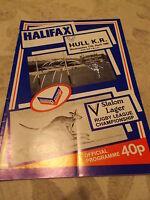Halifax v Hull KR programme 17.4.85