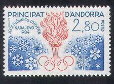 Andorra 1984 Giochi Olimpici/SPORT/OLIMPIADI/Torcia/Fiamme/Fiocchi di neve 1 V (n39239)