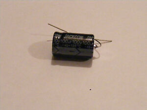 2 x Axial 10uF 160V capacitor for bias supply in Marshall JMP JTM45 etc