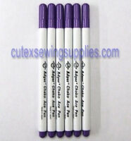 VIOLET DISAPPEARING VANISHING INK PENS MARKERS - 6 Pack