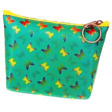 Purse Bag Color Changing Blue Yellow Butterflies Green Lenticular #R-019G-PAVIA#