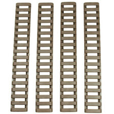 4 Heat Resistant Rifle Handguard Weaver Picatinny Ladder Rail Cover -Dark Tan