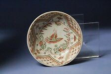 Ming Dynasty plate of red and green color characters 明代紅l綠彩人物盤