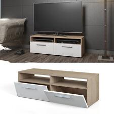 Meuble bas TV Armoire Table pour téléviseur Sideboard Étagère Rack Sonoma Blanc