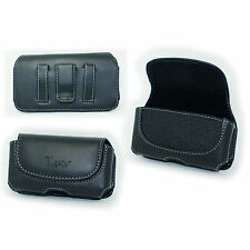 Leather Case Belt Holster w Clip/Loop for Samsung Galaxy S4 (fits w hybrid case)