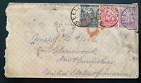 1883 Wellington Cape Of Good Hope Cover To Claremont NH USA