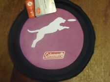"""COLEMAN 10"""" FLYING DISC Dog Toy """"PURPLE"""" NEW with Tag and FREE SHIPPING(2t-blk-2"""