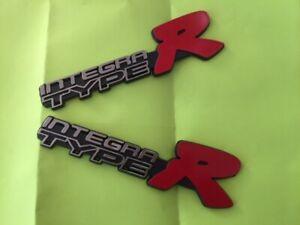 Logo Emblem Badge Acura Integra TypeR  2 pcs BIG SALE FREE SHIP