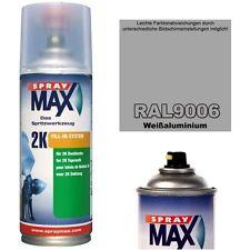 2K Lackspray RAL 9006 Farbe WEISSALUMINIUM Glänzend Sprühfarbe Acryllack 400ml
