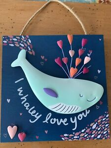 "3D LOVE SIGN - 10"" x 10"" - ""I WHALEY LOVE YOU"" - NEW W/O TAGS"
