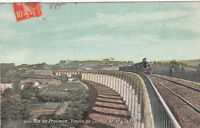 AIX-EN-PROVENCE viaduc du chemin de fer & la vallée timbrée 1912