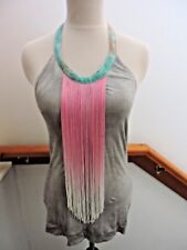 NWT FREE PEOPLE *RARE* DESERT OMBRE FRINGE TANK TOP GREY XS (0 2)