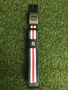 """NEW FJ Canvas Belt. Charcoal/White/Pink. 44"""" Cut To Length"""