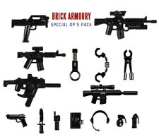 16x Custom Brick Armoury Special Op Weapons Pack for LEGO®/Brickarms Minifigures