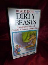 1990 OOP ROALD DAHL DIRTY BEASTS VHS 30mins Prunella Scales Tim West FREE UK P&P