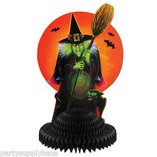 HALLOWEEN Retro Styled WITCH with HARVEST MOON CENTERPIECE Party Decoration