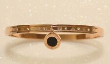 18k Rose Gold Finish 0.5ct Diamond Bangle Bracelet Very Classy and Elegant
