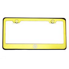 Gold Chrome License Plate Frame T304 Stainless Steel Laser Engraved Fiat Logo