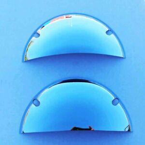 "7"" Half Moon Headlight Shields PAIR 1950s Style Eye Lids Round Headlight Shields"