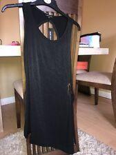 New River Island Ladies Size Uk10 Black Top Summer Wear