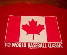 CANADA WORLD BASEBALL CLASSIC FLAG T-Shirt LARGE NEW w/ TAG