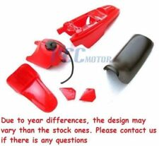 FOR YAMAHA PW50 PW 50 PLASTIC SEAT GAS TANK KIT RED U PS37
