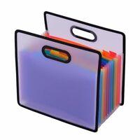Accordion Expanding File Folder A4 Paper Filing Cabinet 12 Pockets Rainbow  B1G1