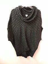 Worthington XL BLACK & Silver Cowl Neck Sweater Euc Lkn