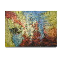 NY Art - Colorful Modern Abstract Fine Art 24x36 Original Oil Painting on Canvas