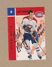 Dick Duff signed 1966-67 Parkie reprint card # 78-Montreal Canadiens
