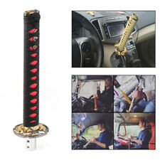 Universal 260mm Samurai Sword Gear Shift Knob Shifter Katana Metal Black + Red