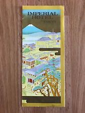 Vintage Mid-1960s Imperial Hotel Tokyo Japan Fold-Out Brochure with Price List