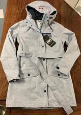 NWT $160 Helly Hansen Womens Rain Wear Coat Jacket Small Bright Sky Melange Blue