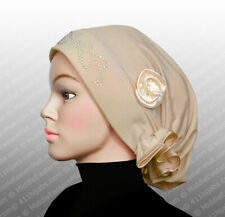 Tan Neutral #12 Stretchy Bonnet Muslim Fashion Hijab Rosette Cap Ships From USA