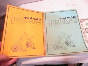 1980 & 1981 Grand Rapids, MI Pacers Wheelchair Sports Programs good shape NR