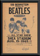 Beatles Concert Poster Reprint On Original 1960s Paper Autograph Reprint 048