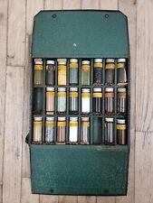 Vintage VET case animal tinctures pills medicine glass bottles MURPHY'S antique
