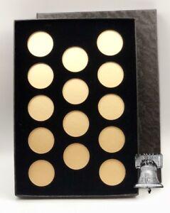 Air-tite Coin Holder Black Velvet Display Box Gold Insert Model A Storage Case