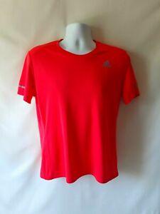 Adidas mens orange short sleeve activewear top  size M