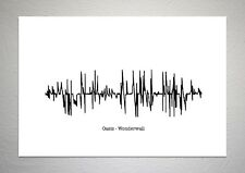 Oasis - Wonderwall - Sound Wave Print Poster Art
