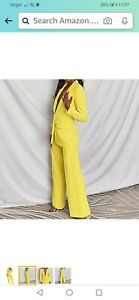 Womens yellow suit