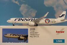HERPA wings 1:500 Airbus a321 FINNAIR OH-LZl santa Claus 528399