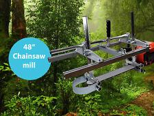 """ZKS 48"""" Mobile tragbar Sägewerk für Motorsäge Kettensäge Holz Brett Alaskan mill"""