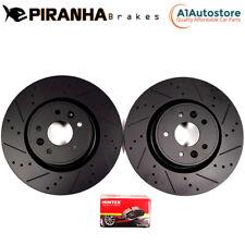 VAUXHALL COMBO 1.6 TURBO D 75bhp 18- FRONT BRAKE DISCS & MINTEX PADS BLACK 283mm